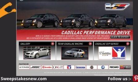 Cadillac V-Performance Academy Sweepstakes