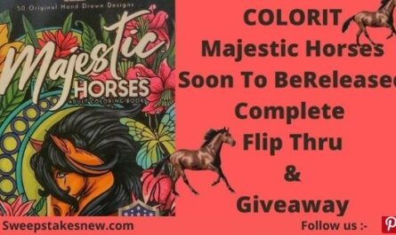 ColorIt Majestic Horses Giveaway
