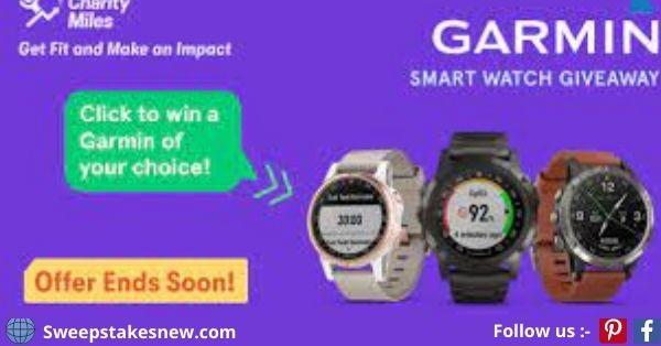 Charity Miles Garmin Smartwatch Giveaway