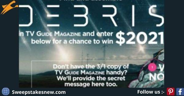 TV Guide Magazine Debris Sweepstakes