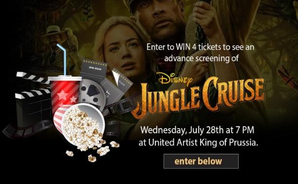 Disney Jungle Cruise Advance Screening Sweepstakes