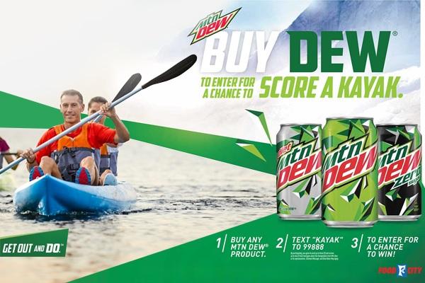 Mtn Dew Kayak Sweepstakes